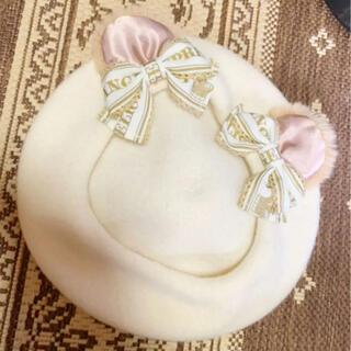 アンジェリックプリティー(Angelic Pretty)のくまさん dream bear  ホワイト ベレー帽(ハンチング/ベレー帽)