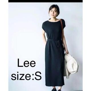 リー(Lee)のLee ワンピース ワッフル素材 Sサイズ ブラック レディース(ひざ丈ワンピース)
