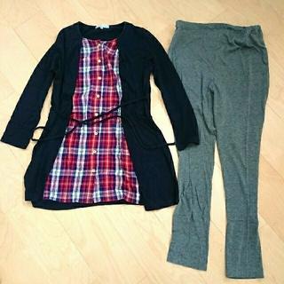 マタニティパジャマ 長袖3組セット(マタニティルームウェア)