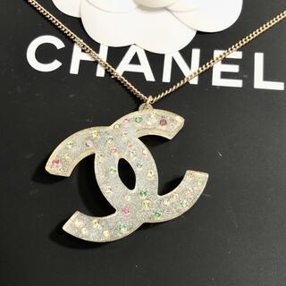 CHANEL - 正規品 シャネル ネックレス ココマーク クリア マルチ ストーン ゴールド 石