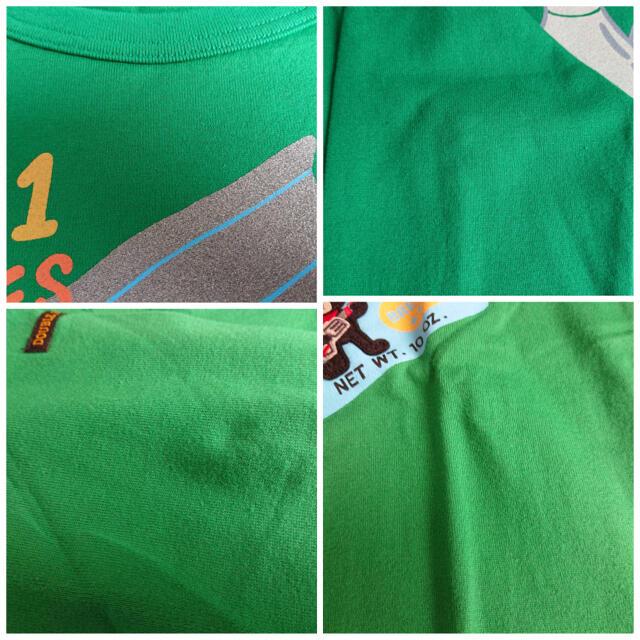 DOUBLE.B(ダブルビー)の未使用 ミキハウス ダブルB 長袖Tシャツ 緑140 Bくん キッズ/ベビー/マタニティのキッズ服男の子用(90cm~)(Tシャツ/カットソー)の商品写真