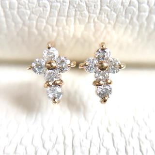 K14  天然ダイヤモンドピアス