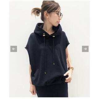 L'Appartement DEUXIEME CLASSE - ◇AMERICANA N/S Hooded プルオーバー ネイビー
