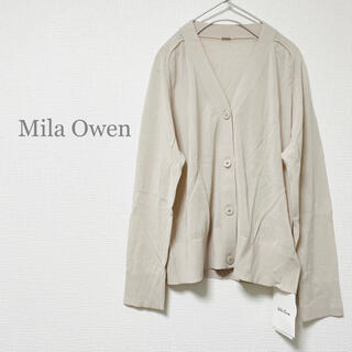 Mila Owen - 新品 Mila Owen ボックスカーディガン アイボリー ウォッシャブル