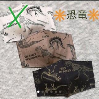 【恐竜化石 骨】3枚セット子供立体インナーマスク キッズサイズ カッコいい(外出用品)