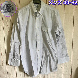 J.PRESS - J.PRESS 長袖BDシャツ40-82 白×紺ライン Yシャツ ビジネスシャツ