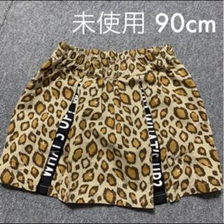 シマムラ(しまむら)の90cm 美品 ヒョウ柄ミニスカート(スカート)
