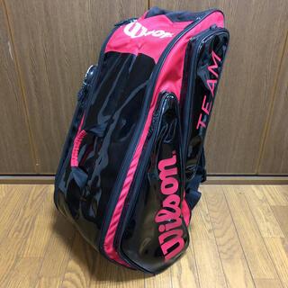 ウィルソン(wilson)の中古 ウィルソン Wilson ラケットバッグ ラケット6本収納可能 赤×黒(バッグ)