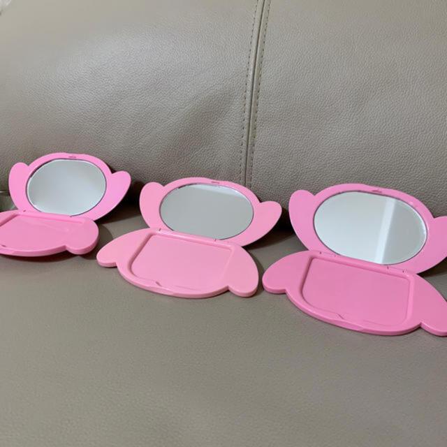 マイメロディ(マイメロディ)のマイメロ手鏡3つセット未使用品 エンタメ/ホビーのおもちゃ/ぬいぐるみ(キャラクターグッズ)の商品写真