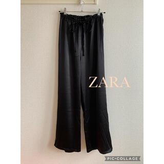 ZARA - ZARA サテン調ワイドストレートパンツ