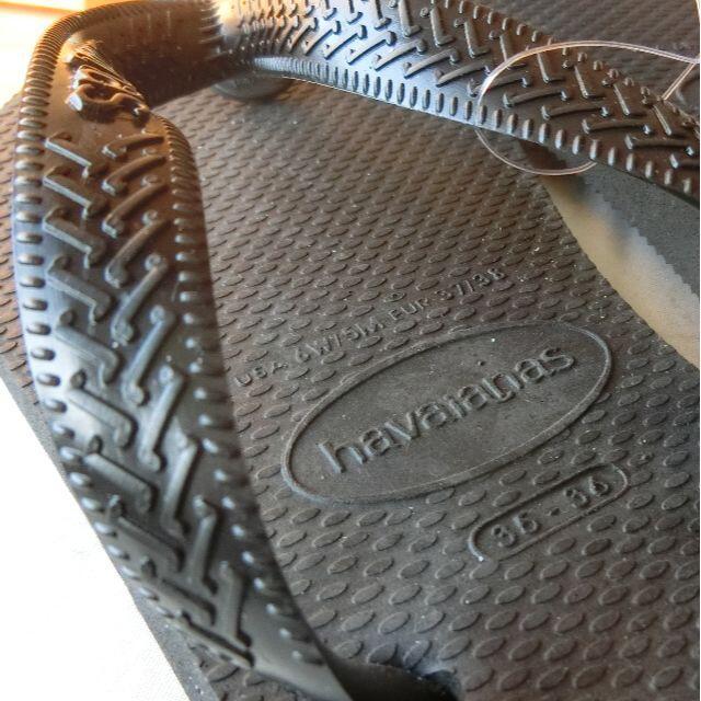havaianas(ハワイアナス)の新品!ハワイアナス ビーチサンダル ブラック 23~23.5 havaianas レディースの靴/シューズ(ビーチサンダル)の商品写真