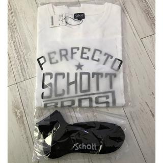 schott - schott Tシャツ XL 【新品未使用】靴下セット