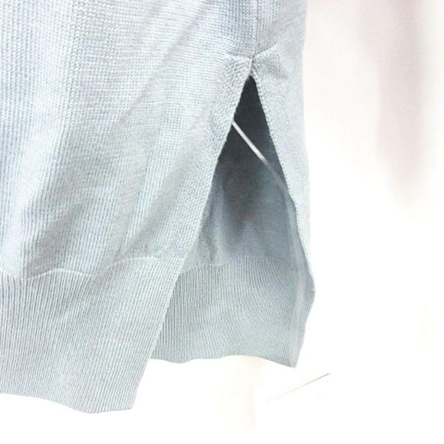 L'Appartement DEUXIEME CLASSE(アパルトモンドゥーズィエムクラス)のアパルトモン ドゥーズィエムクラス 21年 長袖 ニット ウール くすみブルー レディースのトップス(ニット/セーター)の商品写真