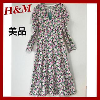 H&M - H&M 美品 花柄ワンピース ロングワンピース