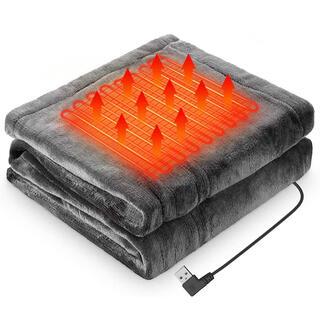 電気 毛布 ブランケット 電熱 ひざ掛け 肩掛け USBブランケット 新品未使用(電気毛布)