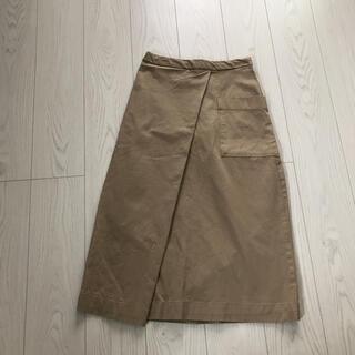 MUJI (無印良品) - 無印良品ロンスカ着丈80ウエストゴム平置き36サイズMロングスカートゆったり美品