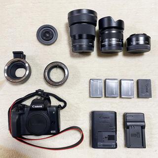 Canon - Canon eos kiss m標準レンズ+オプション沢山!
