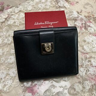 Salvatore Ferragamo - フェラガモ ブラック 折財布