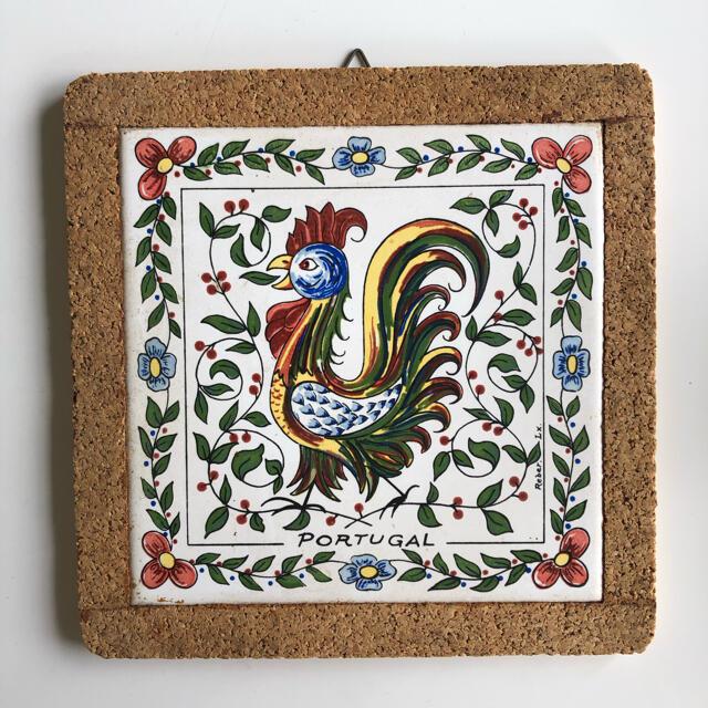 ポルトガル製タイル 鍋敷き&壁飾り インテリア/住まい/日用品のキッチン/食器(収納/キッチン雑貨)の商品写真