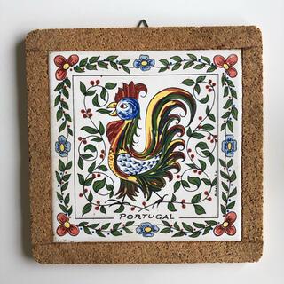 ポルトガル製タイル 鍋敷き&壁飾り