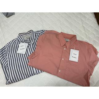 アクネ(ACNE)の2色セット ACNE STUDIOUS アクネストゥディオズ ポプリンシャツ(シャツ)