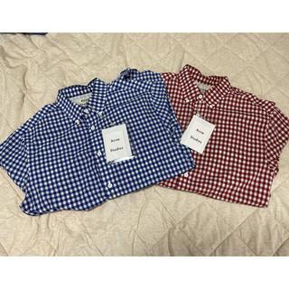 アクネ(ACNE)の2色セット ACNE STUDIOUS アクネストゥディオズ チェックシャツ(シャツ)