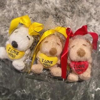 SNOOPY - ♥ハート スヌーピー ぬいぐるみ 3種類セット メッセージ入り プレゼントにも
