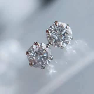 ソーティング付き 大粒 ダイヤモンド ピアス pt900 0.7ctup