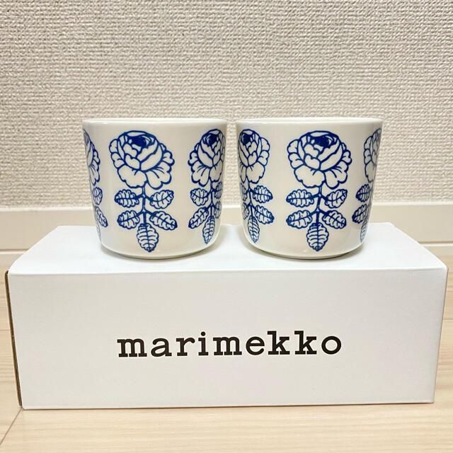 marimekko(マリメッコ)のマリメッコ ヴィヒキルース ブルー ネイビー ラテマグ  インテリア/住まい/日用品のキッチン/食器(食器)の商品写真