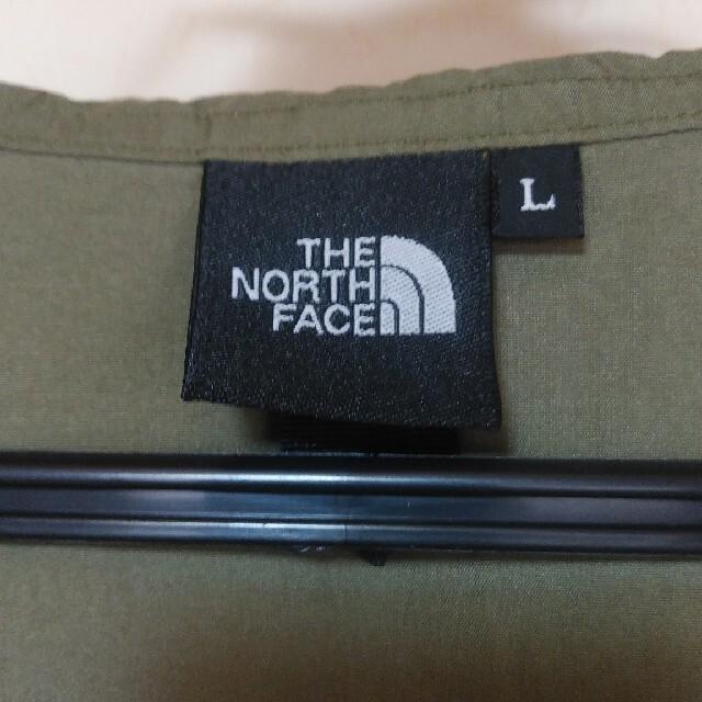 THE NORTH FACE(ザノースフェイス)の美品 ザ・ノース・フェイス 撥水コンパクトコート メンズ L カーキ メンズのジャケット/アウター(マウンテンパーカー)の商品写真