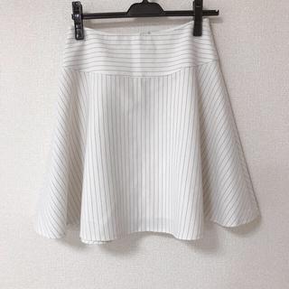 OPAQUE - opaque ピンストライプフレアスカート