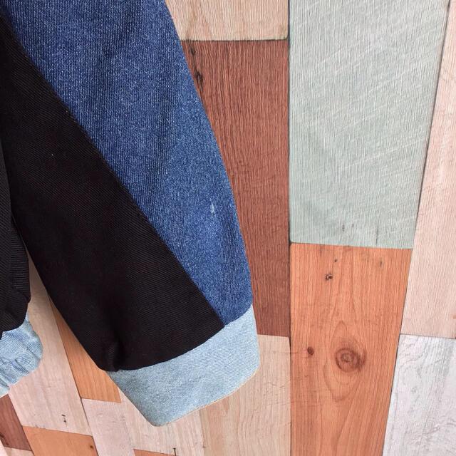 ART VINTAGE(アートヴィンテージ)の古着 vintage 90s リメイクブルゾン デニム切り替え 希少アイテム メンズのジャケット/アウター(ブルゾン)の商品写真