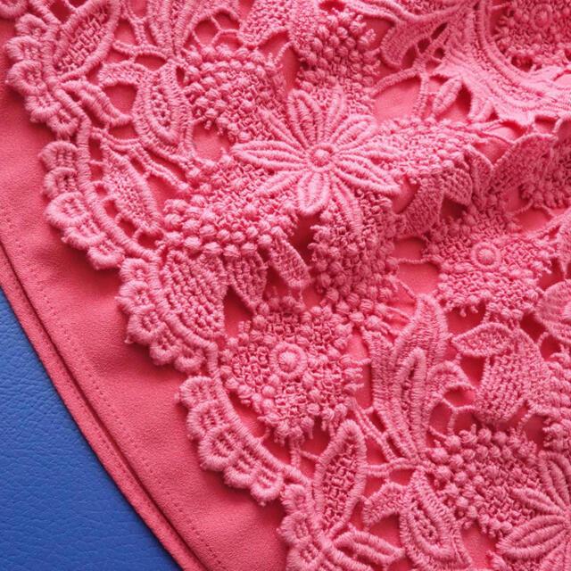ADORE(アドーア)の■アドーア■ 36 ピンク 総刺繍レース スカート ADORE レディースのスカート(ひざ丈スカート)の商品写真