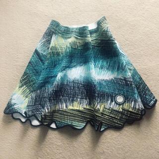 ケンゾー(KENZO)のKENZO ボンディング スウェット スカート ローラ 着用(ひざ丈スカート)