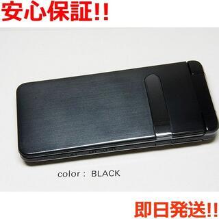 キョウセラ(京セラ)の新品 au GRATINA ブラック 白ロム(携帯電話本体)