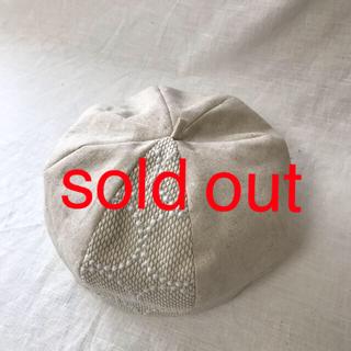 mina perhonen - ミナペルホネンベレー帽Lサイズ生成り