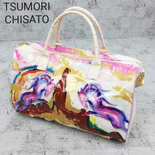 TSUMORI CHISATO - TSUMORI CHISATO ツモリチサト 総柄プリントエナメルボストンバッグ
