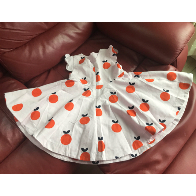 familiar(ファミリア)の新品 jacadi ジャカディ ワンピース オレンジ 6A ベビー キッズ キッズ/ベビー/マタニティのキッズ服女の子用(90cm~)(ワンピース)の商品写真