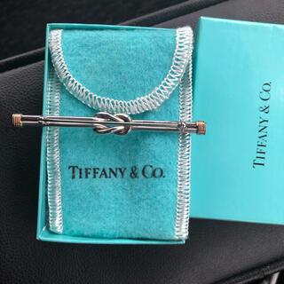 ティファニー(Tiffany & Co.)のレア品 ティファニー ノット ピンブローチ(スターリングシルバー×14金)(ブローチ/コサージュ)
