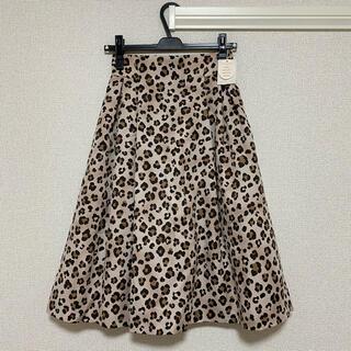 ウィルセレクション(WILLSELECTION)の新品未使用 ウィルセレクション レオパードグログランスカート(ひざ丈スカート)