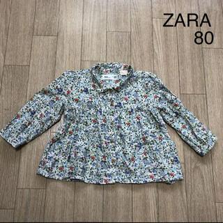 ザラ(ZARA)のZARA ザラ トップス 花柄ブラウス 80 女の子 キッズ(シャツ/カットソー)