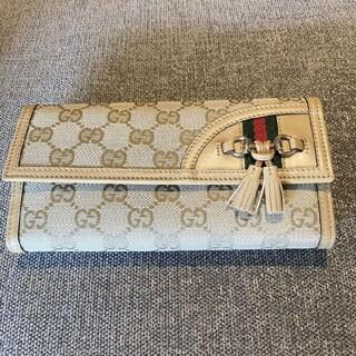 Gucci - GUCCI グッチ長財布 シェリーライン GGキャンバス タッセル