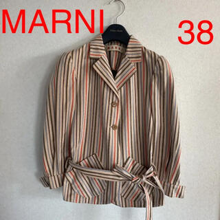 Marni - マルニ MARNI マルチストライプ ジャケット 裏無 春夏 38サイズ