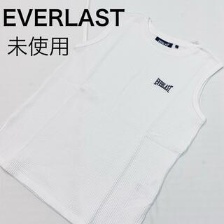 エバーラスト(EVERLAST)のEVERLAST ワッフルノースリーブトップス ホワイト(Tシャツ/カットソー(半袖/袖なし))
