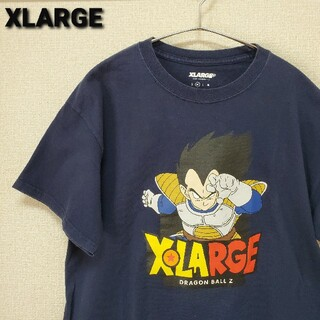 XLARGE - XLARGE ドラゴンボール  コラボ ベジータ  Tシャツ ネイビー