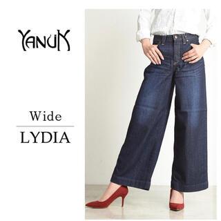 YANUK - YANUK ヤヌーク Lydia リディア ワイド デニムパンツ レッドカード