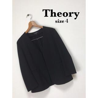 theory - Theory トリアセテート ノーカラー ジャケット