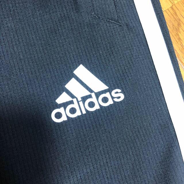 adidas(アディダス)のアディダス ズボン パンツ 140 黒 男の子 キッズ/ベビー/マタニティのキッズ服男の子用(90cm~)(パンツ/スパッツ)の商品写真