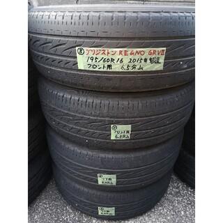 ブリヂストン(BRIDGESTONE)の⑧中古 ブリジストン レグノGRV2 195/60R16 サマータイヤ4本セット(タイヤ)