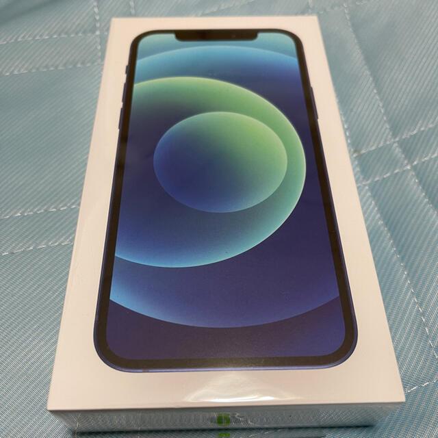 iPhone(アイフォーン)の新品未開封 SIMフリー iPhone12 青 128GB スマホ/家電/カメラのスマートフォン/携帯電話(スマートフォン本体)の商品写真